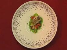 Kabeljau auf Korianderkarotten mit Petersilien-Ingwer-Sauce (Fiona Erdmann) - Rezept