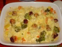 Gemüseauflauf mit Fleischbällchen - Rezept