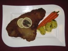 Wiener Schnitzel mit Möhren und Petersilienkartoffeln - Vienna Calling - Rezept