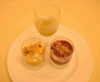 Cassis-Waldbeere, Mango-Mascarpone und Mojito-Sorbet - Rezept