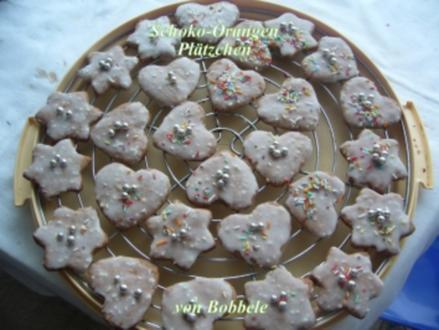 Weihnachtsplätzchen: Schoko-Orangen-Plätzchen - Rezept