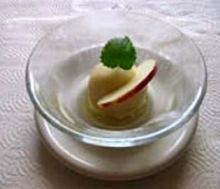 Rezept: Apfel-Calvados-Sorbet