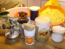Möhren / Kartoffelpuffer mit Ingwer und Kürbiskerne... - Rezept