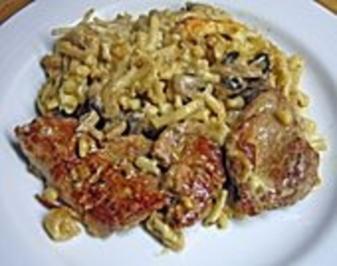 Filettopf mit Spätzle - Rezept