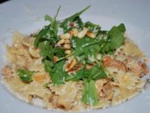 Farfalle mit Hähnchen-Marsala-Sauce und Rucola - Rezept