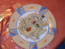 Nudelauflauf mit Zucchini und Fisch - Rezept