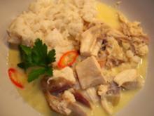 Hühnerfrikassee mit Ingwer und Chili - Rezept