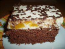 Stracciatella - Pfirsich - Kuchen - Rezept