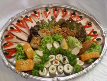 Kalte platten versch r ucherfische rezept - Wurstplatten dekorieren ...