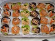 Kalte Platten :  Canapes mit Fisch ! - Rezept