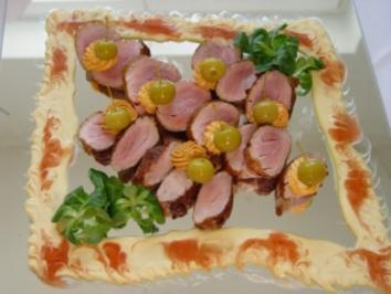 Kalte Platten :  Schweine - Filets im Ganzen gebraten - Rezept
