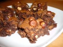 Haselnuss-Nougat-Brownies - Rezept