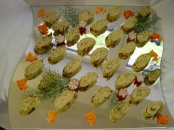 Kalte Platten :  Crepes gefüllt mit Forellenmus mal anders - Rezept