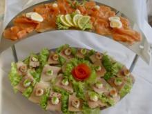 Kalte Platten : Lachs- und Forellenplatte - Rezept