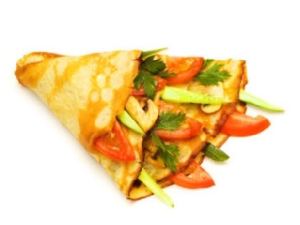 Dinkelpfannkuchen mit Gemüse - Rezept