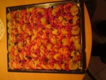 Kartoffel - Tomaten - Pizza - Rezept