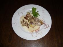 Fasanenbrust in Pfeffercreme dazu Kartoffelpüreetaler und Steinpilze - Rezept