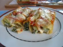Cannelloni mit kerniger Spinatfüllung - Rezept