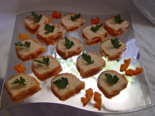 Fisch - Gerichte : Terrine von zweierlei Lachs - Rezept