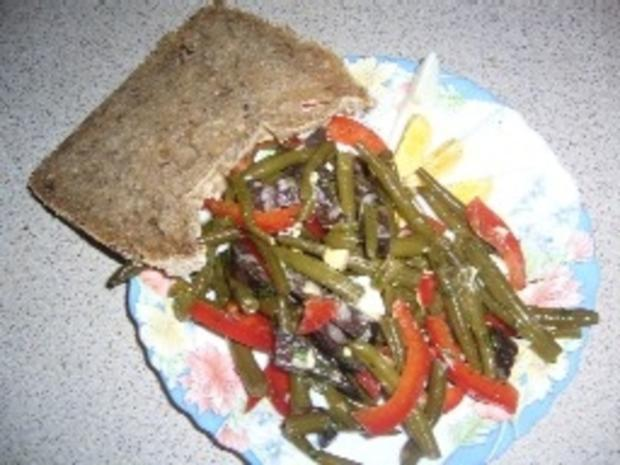 Salat für das Abendessen: Wurstsalat mit grünen Bohnen - Rezept - Bild Nr. 3