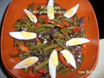 Salat für das Abendessen: Wurstsalat mit grünen Bohnen - Rezept