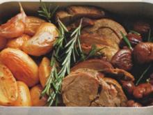 Wildschweinbraten mit Kastanien - Rezept