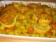 """Hähnchenbrust aus dem Ofen mit Zitronenkartoffeln """"Bombay"""" - Rezept"""