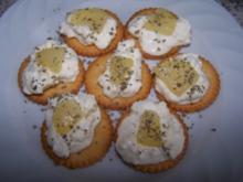 Birnen-Cracker mit Geflügelcreme - Rezept