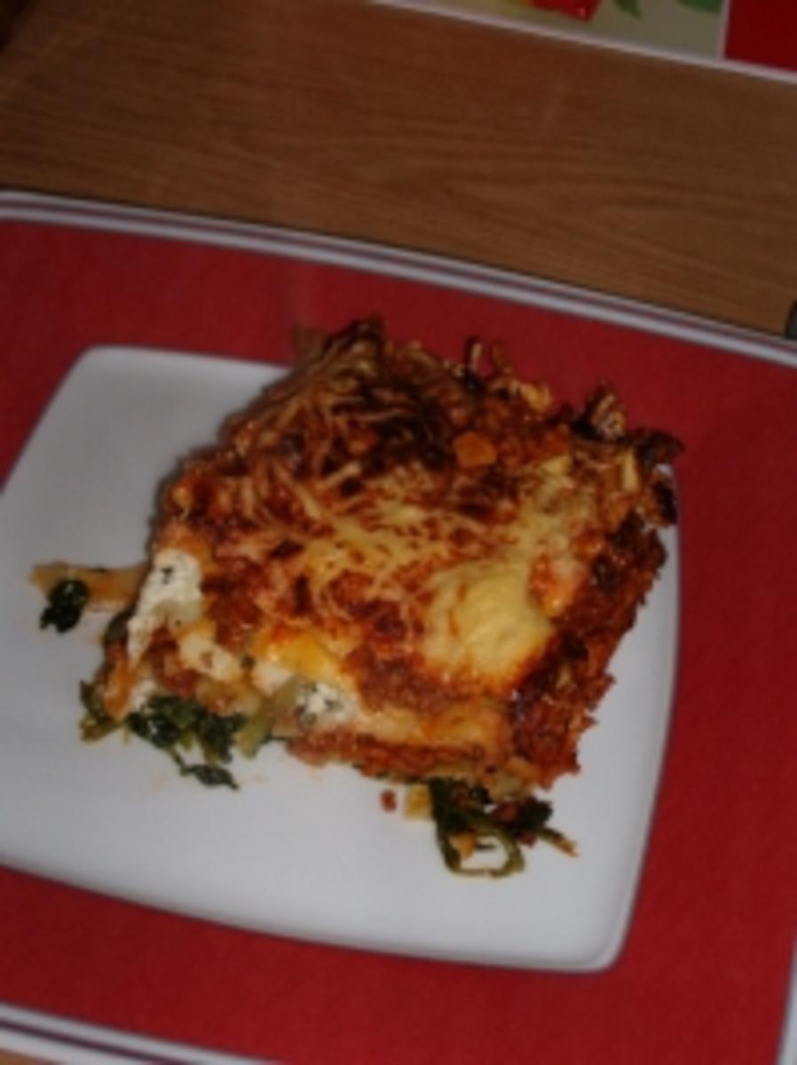 Hack Spinat Lasagne