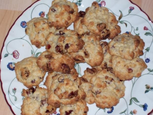 Cranberrie-Cookies - Rezept