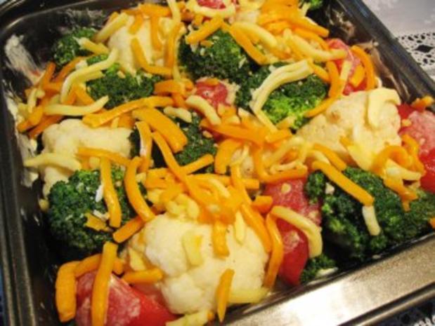 Gemüse überbacken ... - Rezept