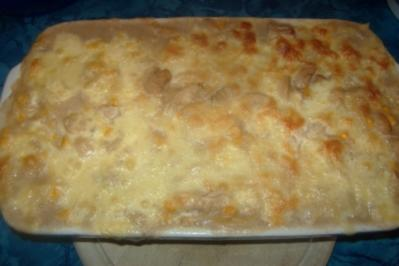 "Spaghetti-Auflauf ""Sauce blanche"" - Rezept"