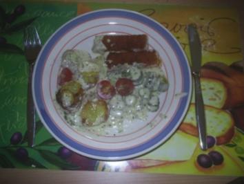 Rezept: Fisch - Fischstäbchen-Pfanne