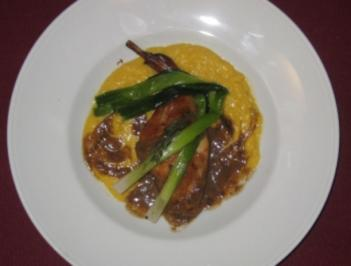 Kaninchen in Sherry geschmort mit Kürbis - Konijn gestoofd in Sherry - Rezept