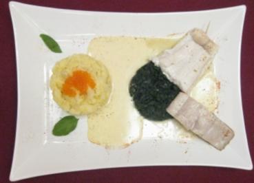 Fische aus Atlantik und Pazifik auf Limettensoße an Kartoffel-Kaviar-Stampf - Rezept