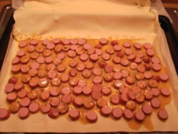 Würstchen im Blätterteig - Rezept