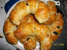 Marzipan-Mohn-Hörnchen - Rezept