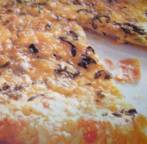 Pizza:  Blätterteig mit Gorgonzola - Rezept