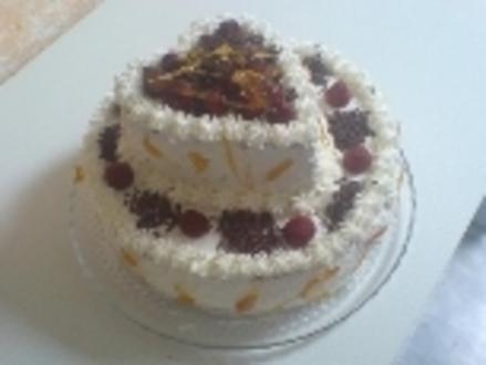 Riesen-Erdbeer-Torte - Rezept