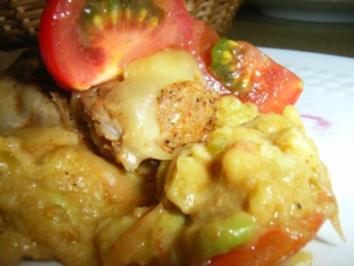 Schweinemedailons mit Käsehaube im Avocado-Tomaten-Bett - Rezept