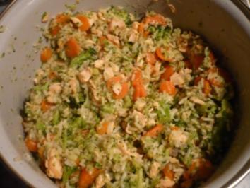 Bunte Reis - Fisch - Pfanne - Rezept