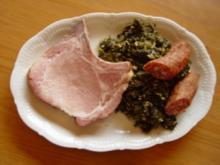 Gemüse - Gerichte ! Grünkohl mit Kasseler und Kohlwurst - Rezept