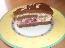 Nuss-Nougat-Mascarpone-Kirsch-Torte - Rezept