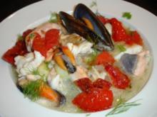Mediterraner Fischeintopf nach eigenen Ideen - Rezept