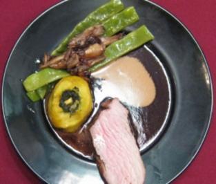 Tafelspitz mal anders mit Bohnen-Austernpilz-Gemüse und Backkartoffeln - Rezept