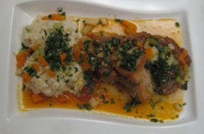 Ossobuco mit Risotto alla Milanese und Gremolata - Rezept
