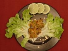 Scharfe Gemüseplätzchen mit süßem Chili-Dip (Claudine Wilde) - Rezept