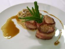 Schweinefilet im Speckmantel dazu Champignons- Weißweinsoße - Rezept