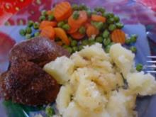 Kaninchenleber mit Mischgemüse und Salzkartoffeln - Rezept