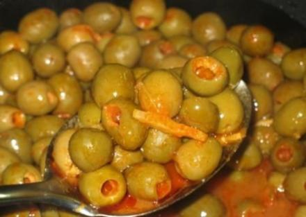 Gegarte Oliven - pikant - Rezept